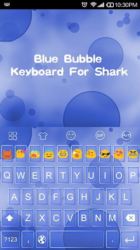 Emoji Keyboard-Blue Bubble