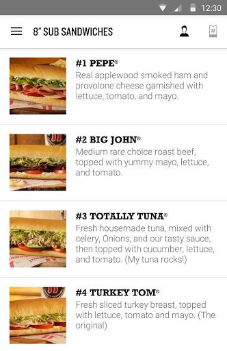Jimmy John's Sandwiches Screenshot