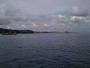Photo: Central Balikpapan from the sea