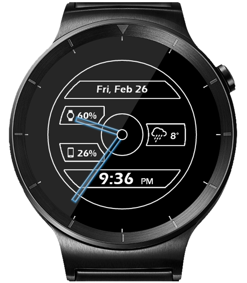 Metal Glow HD Watch Face- screenshot