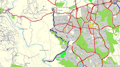Photo: Blue=Walk 15.4km - GPS Map View using OZtopo Map with permission of © BKK Enterprises Pty Ltd, http://www.gpsoz.com.au gps, kml files are located in Google Drive: https://drive.google.com/folderview?id=0B3KACTzeu2lANTA3NWM4NmItMjYyOC00MDAxLTk3ZDEtNzEzMjQ5MDViZGIw&usp=sharing