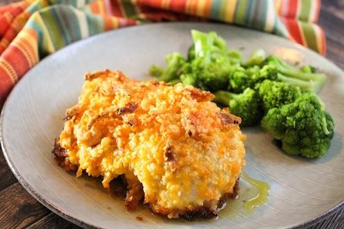 Crunchy Cheddar & Onion Chicken Breast
