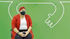 María José, paciente diagnosticada de cáncer de mama, en la AECC.