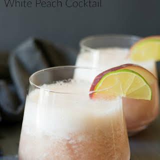 Bourbon Tropical Peach Cocktail.