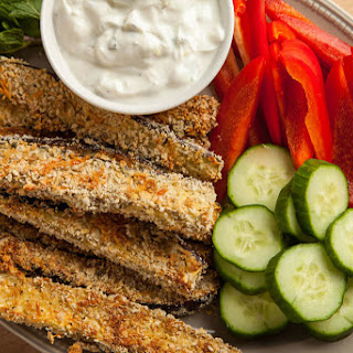 Baked Eggplant Fries with Garlic Yogurt Dip Recipe