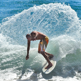 The Wedge by Dennis McClintock - Sports & Fitness Watersports ( surfing, southern calif, california, water sport, newport beach calif )