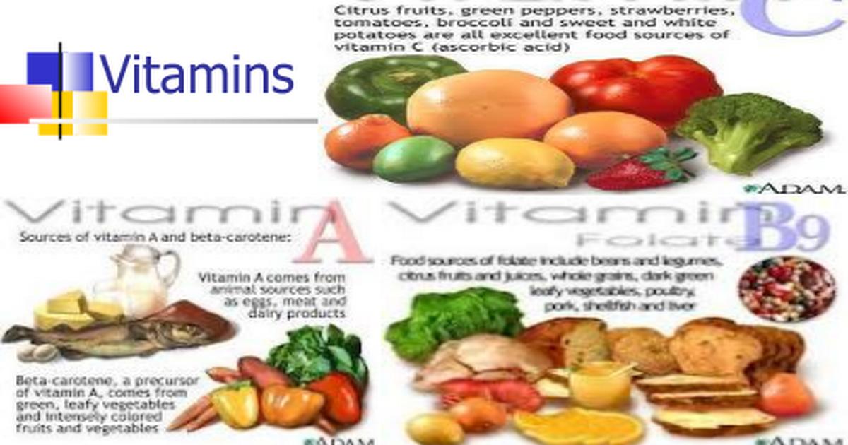 تلخيص الفيتامينات Ppt Google Slides