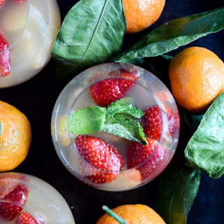 Strawberry Satsuma Champagne Sangria.