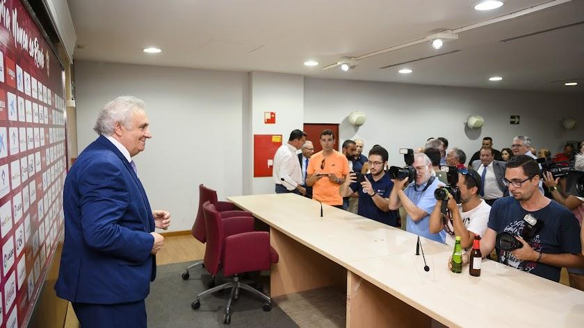 Alfons Garcia, el día que se despidió del Almería.
