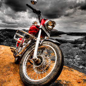 Let's ride by Vamsi Korabathina - Transportation Motorcycles ( selective color, hdr, drive, enfield, karnataka )