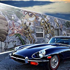 Jaguar by JEFFREY LORBER - Transportation Automobiles ( jeffrey lorber, rust 'n chrome, lorberphoto, sports car, jaguar,  )