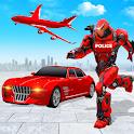 Flying Police Car Robot Hero: Robot Games icon