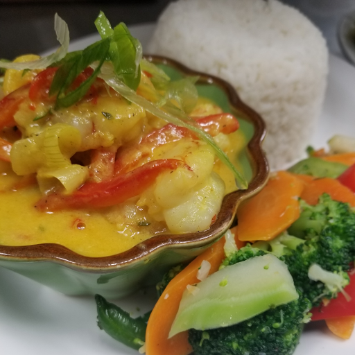 Coconut Curried Shrimp
