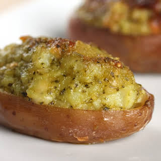 Twice-baked Potatoes With Pesto.