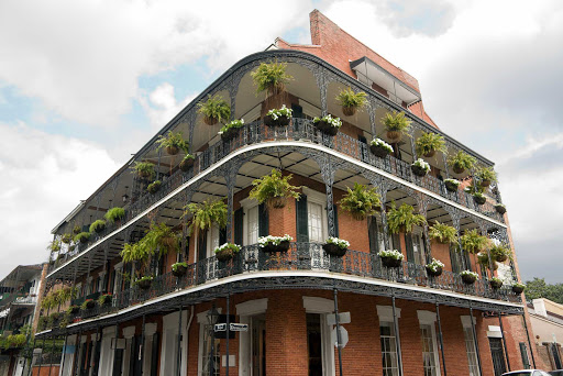 New-Orleans-Corner-of-Royal-and-Dumaine.jpg - New Orleans boasts interesting architecture throughout the French Quarter, including this building at the corner of Royal and Dumaine.
