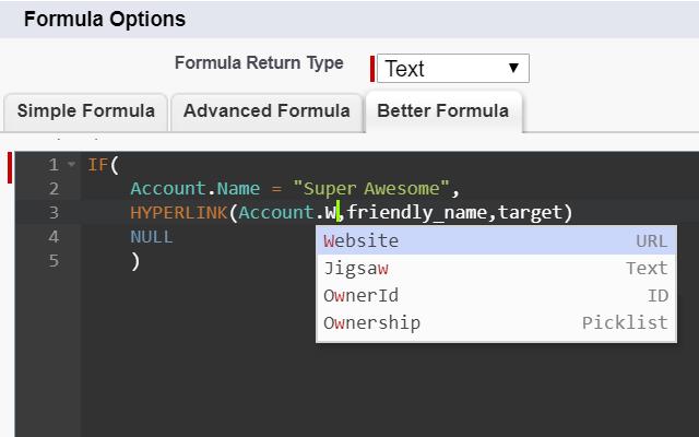 Better Salesforce formula editor