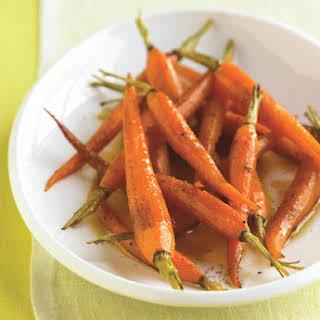 Orange-Roasted Baby Carrots with Honey.