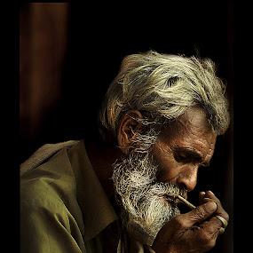Old Man by Kallol Bhattacharjee - People Portraits of Men (  )