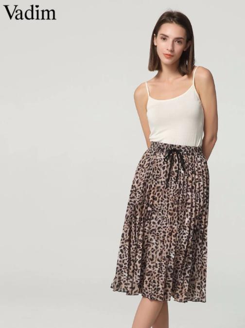 Vadim casual leopard print skirt
