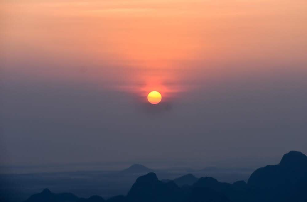 sunrise near Hpa An