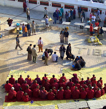 Photo: Free Tibet Exiltibeter machen auf die Unruhen in Tibet im März  2008 aufmerksam