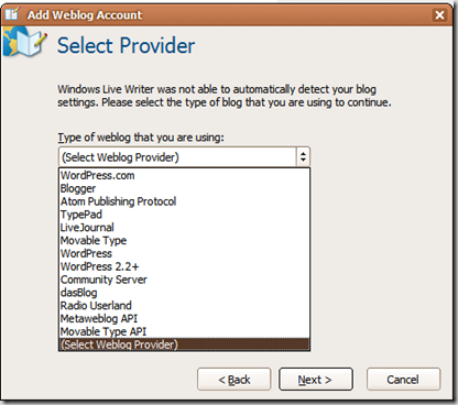 Supported Providers