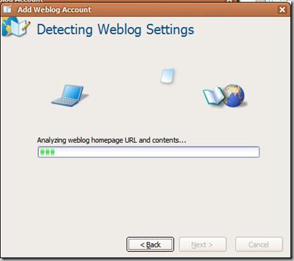Detecting Weblog Settings