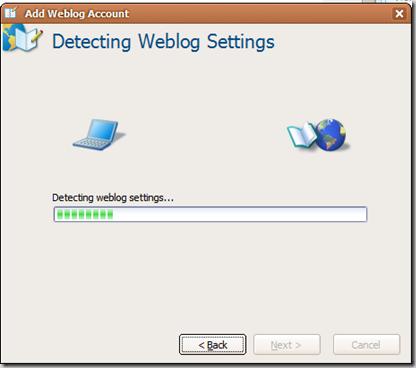 Detecting Weblog Settings 2
