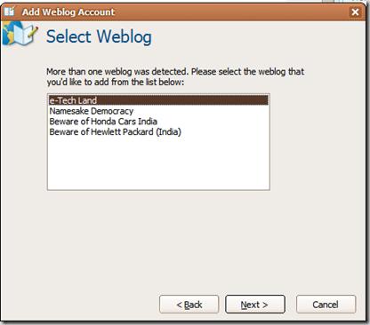 Select Weblog
