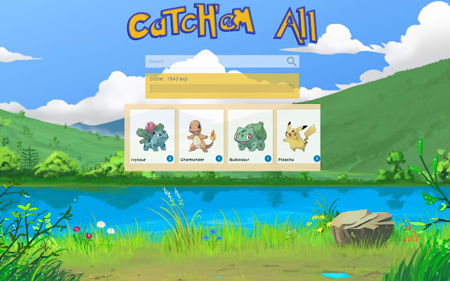 Catchem pokemon game chrome web store catchem all play the pokemon game on your chrome browser altavistaventures Choice Image