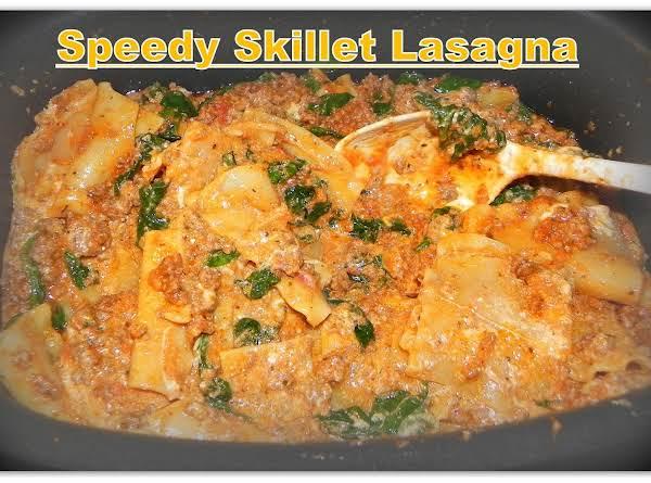 Speedy Skillet Lasagna Recipe