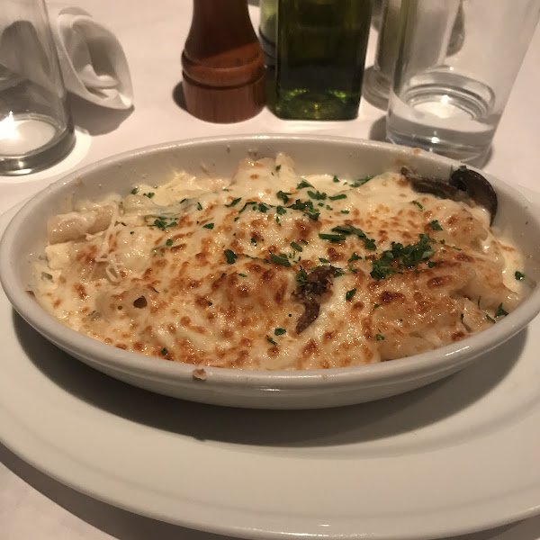 Lobster al forno! It was so delicious they cooked my noodles in separate water!! Looking at the picture makes me ready for more!