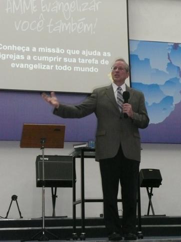 Missionário Edward Dudek é o preletor da semana missionária da Escola Superior de Missões da AMME