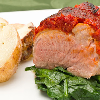 Sun-Dried Tomato Crusted Pork Tenderloin.