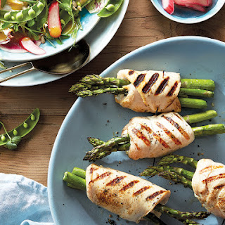 Grilled Asparagus-stuffed Chicken Breast.