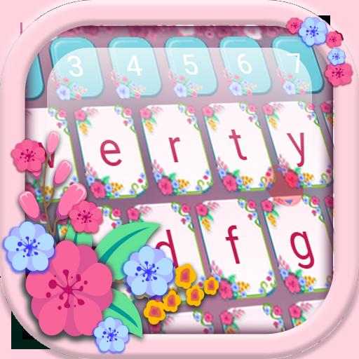 Floral Keyboard Theme