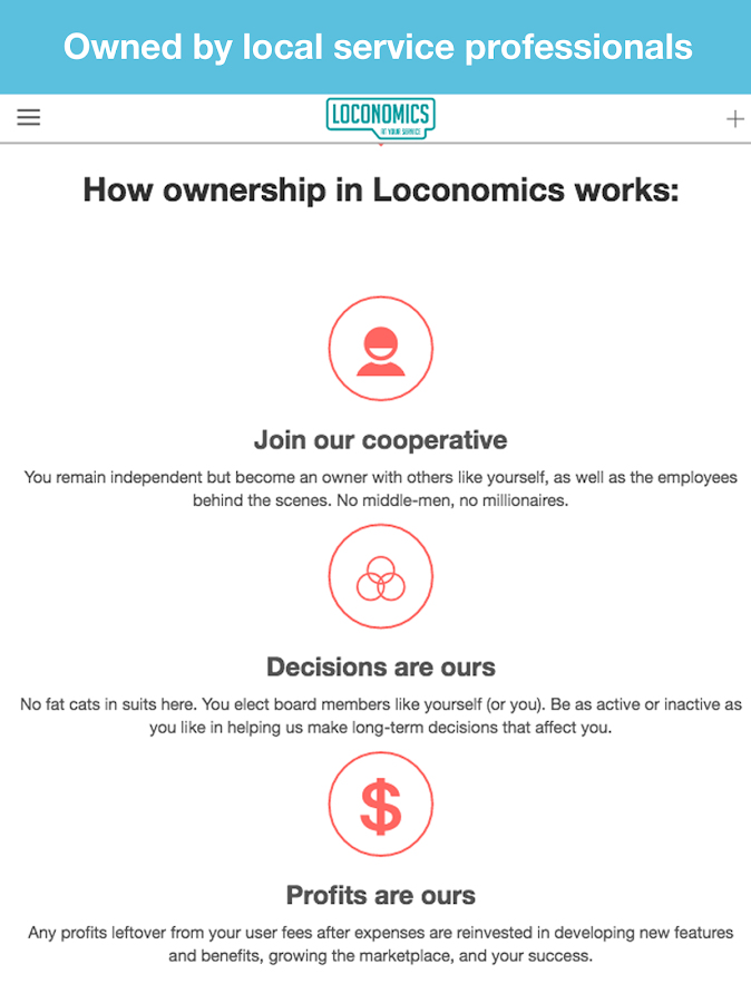 Loconomics Schedule Services- screenshot