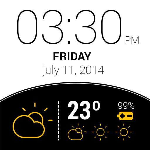 Weather Watch Face – Capture d'écran