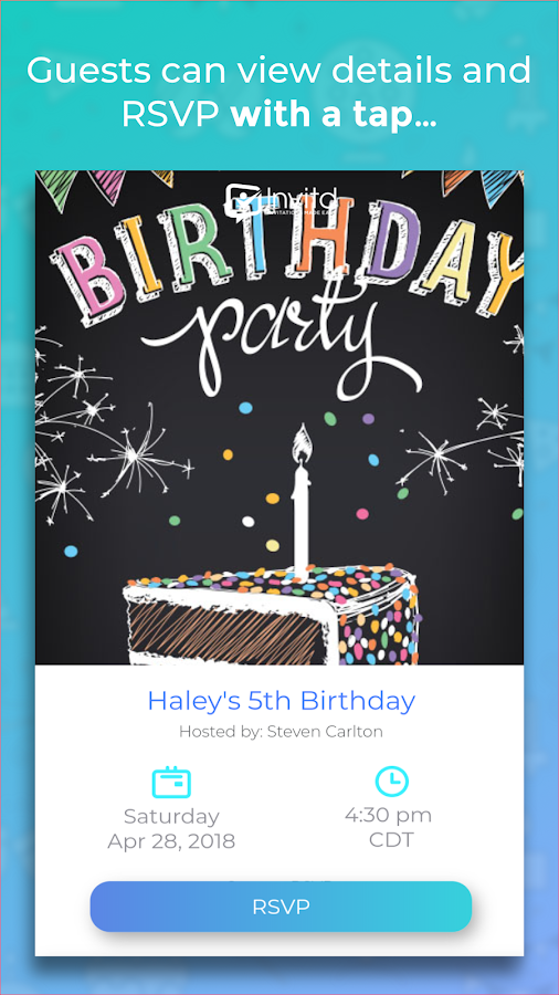 Invitd Invitations By Text Invitation Maker Android Apps On - Blank shopkins birthday invitations