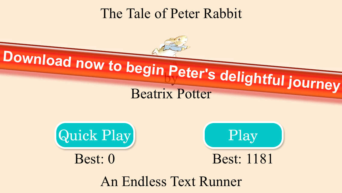 Peter Rabbit Endless Runner- screenshot