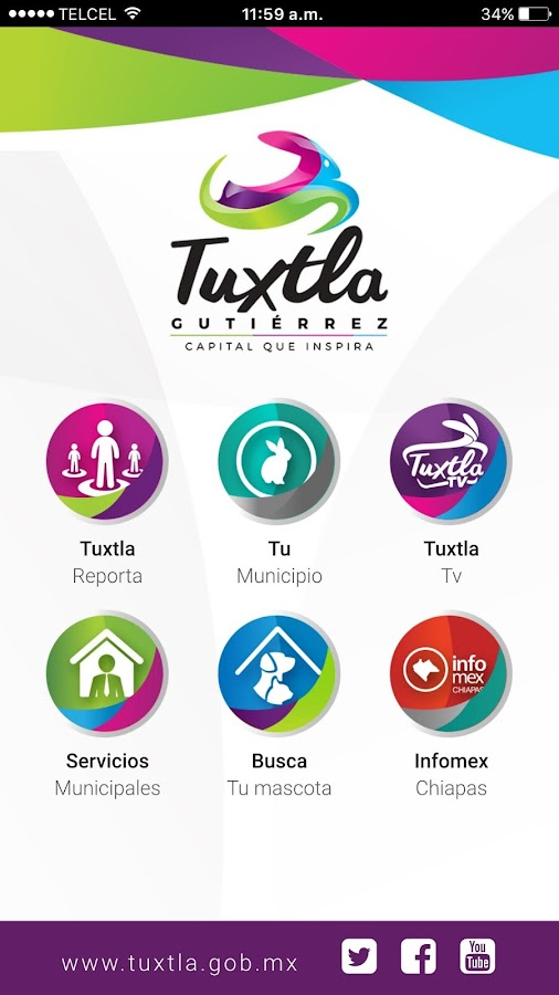 Tuxtla Digital: captura de pantalla