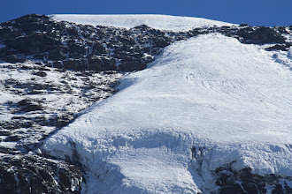 Photo: The upper part and lower parts of the Kersten Glacier