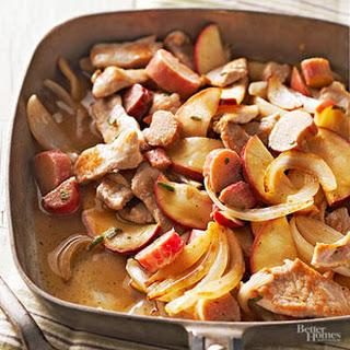 Pork Rhubarb Skillet