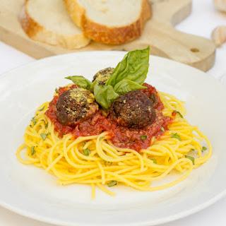 Spaghetti & Beet Balls.