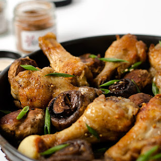 Szechuan Style Baked Chicken Wings with Mushroom