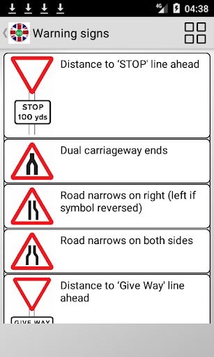 Road signs (Traffic Signs) United Kingdom  screenshots 2