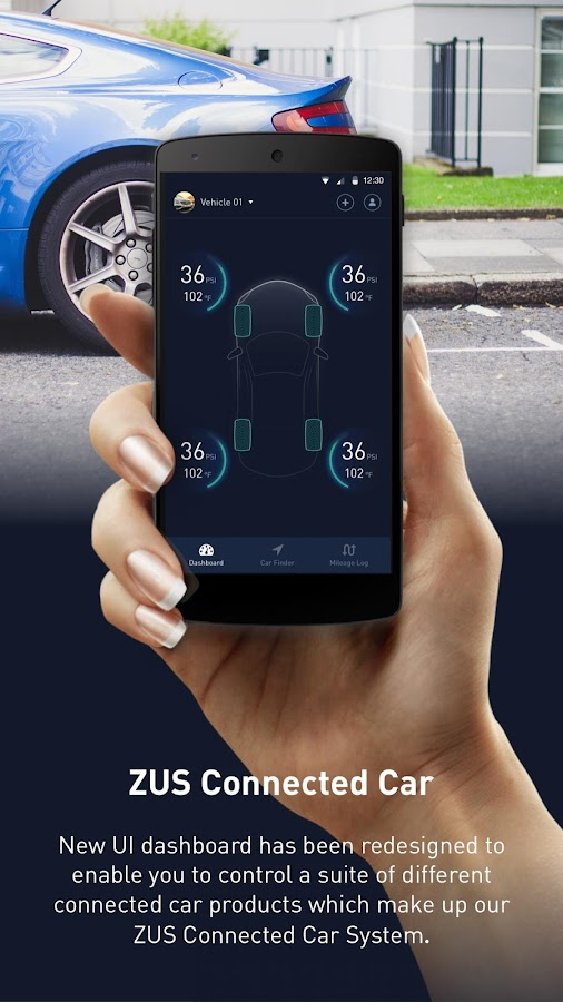 ZUS - Smart Car Locator: captura de pantalla