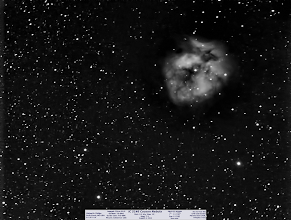 Photo: I shared this one live in the +Virtual Star Party on August 4, 2013. Here is the best 5min shot in Hydrogen-Alpha of the Cocoon Nebula