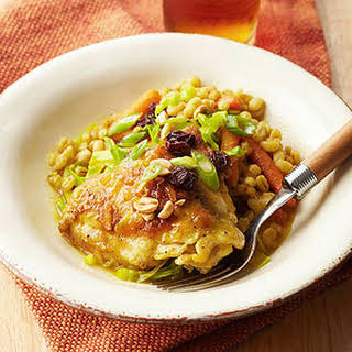 Curried Chicken, Barley, and Vegetables.