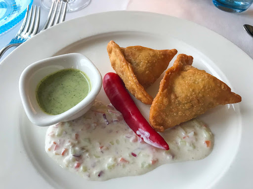 samosa-at-manfredis.jpg - A samosa appetizer at Manfredi's restaurant on Viking Sun.